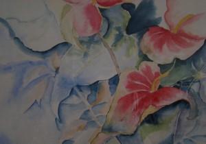 Anthurium-aquarel